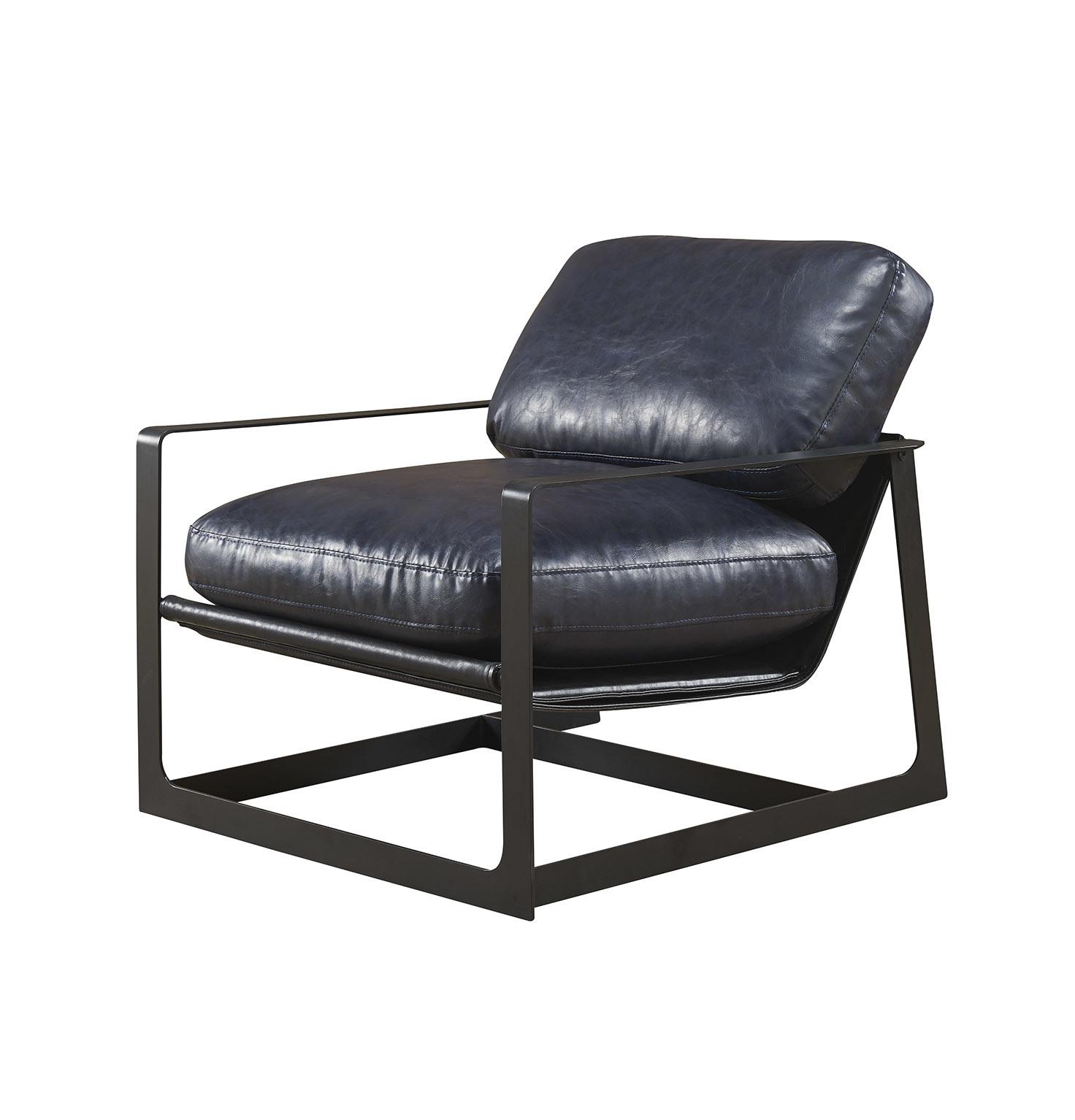 China Metal Armchair Modern Leather Living Room Armchair Steel