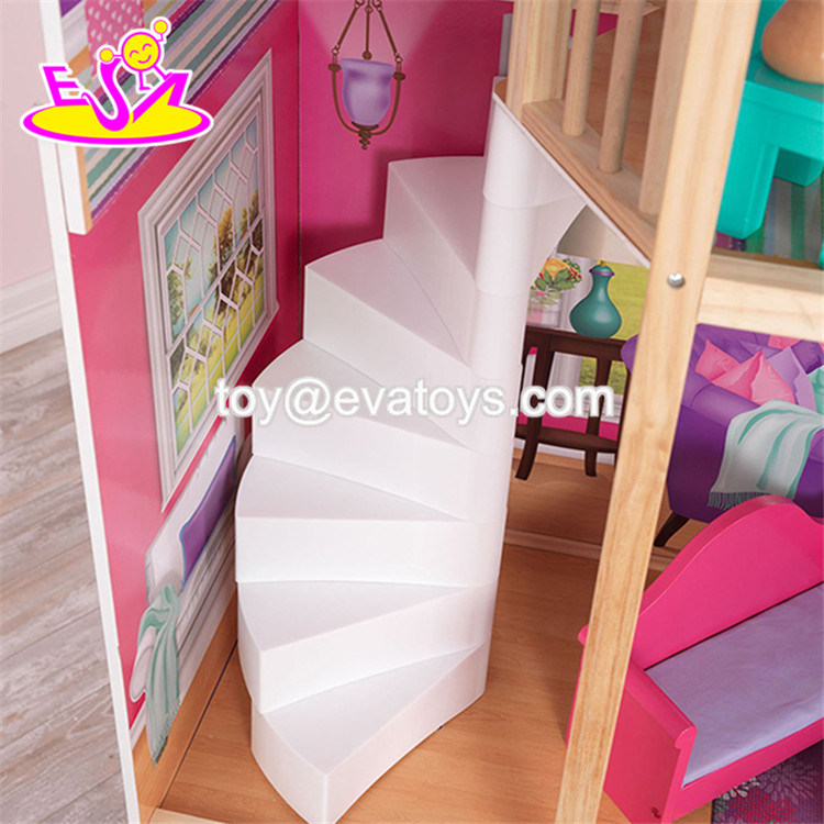 China Best Design Big Size Kids Wooden Elegant Doll House Set With