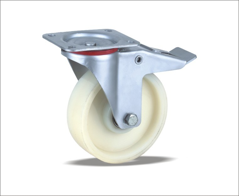 Swivel Caster With Nylon Wheels