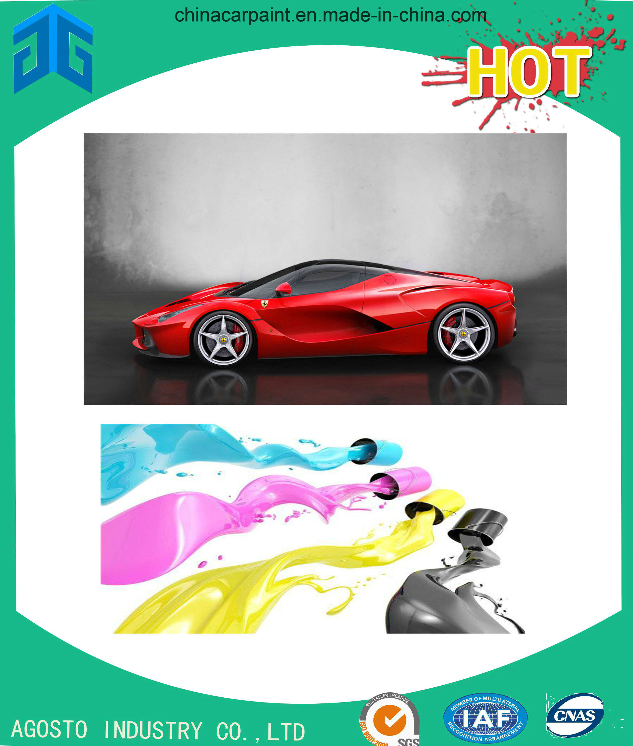 China Auto Refinishing Ag Basecoat Color Plasti Dip Paint