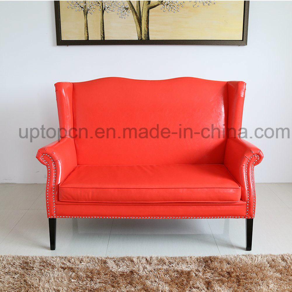 Graceful Bright Red Sofa Furniture