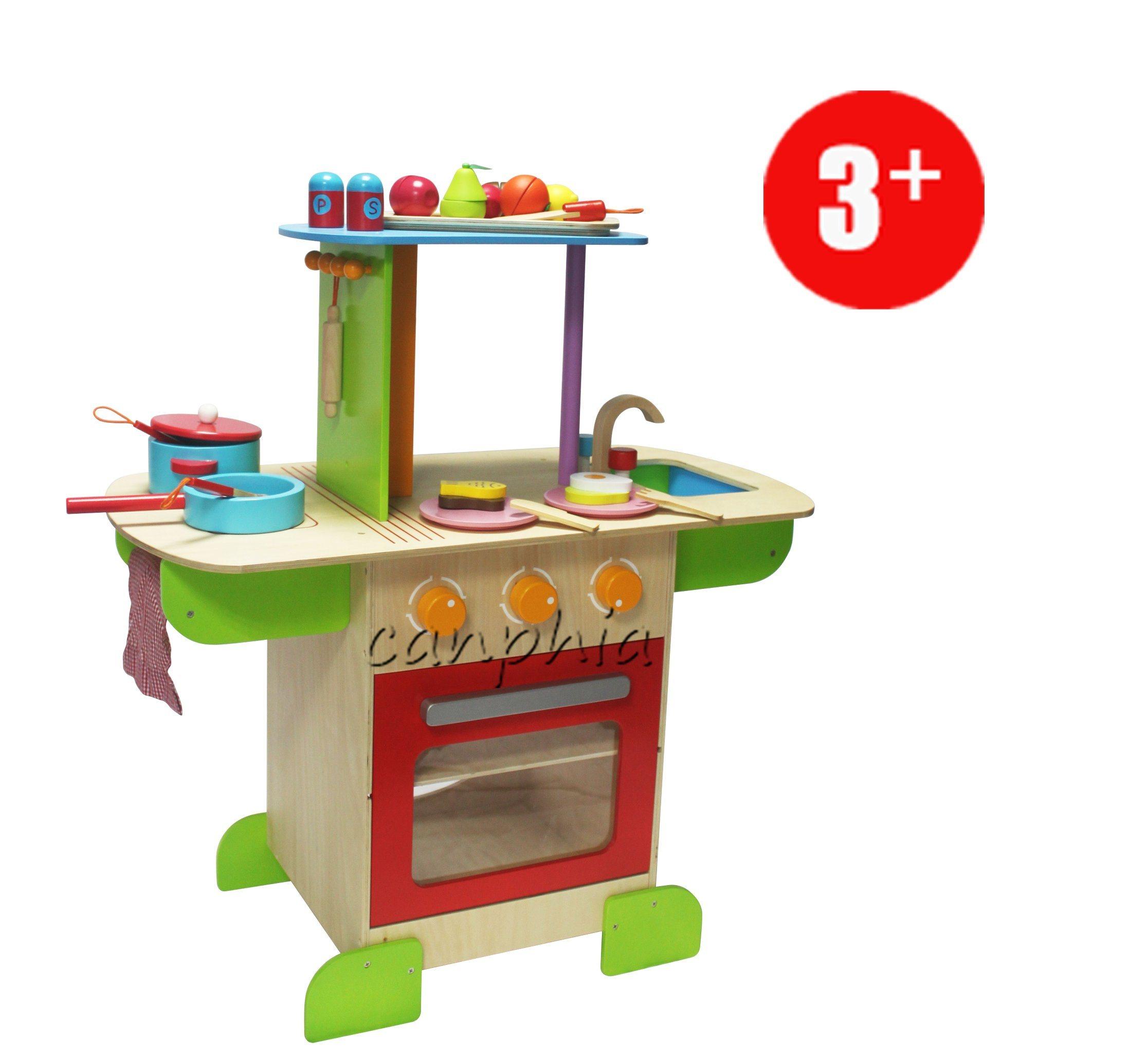 China Children Wooden Kitchen Set Pretend Playset, DIY Wooden Toy ...