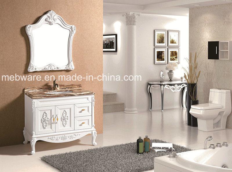 Marble Table Bathroom Vanity Cabinet