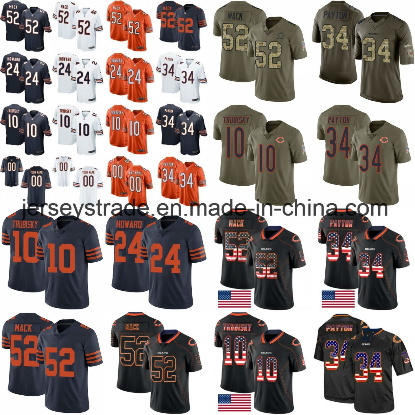 quality design 58367 469fe [Hot Item] Khalil Mack Mitchell Trubisky Jordan Howard Chicago Football  Jerseys