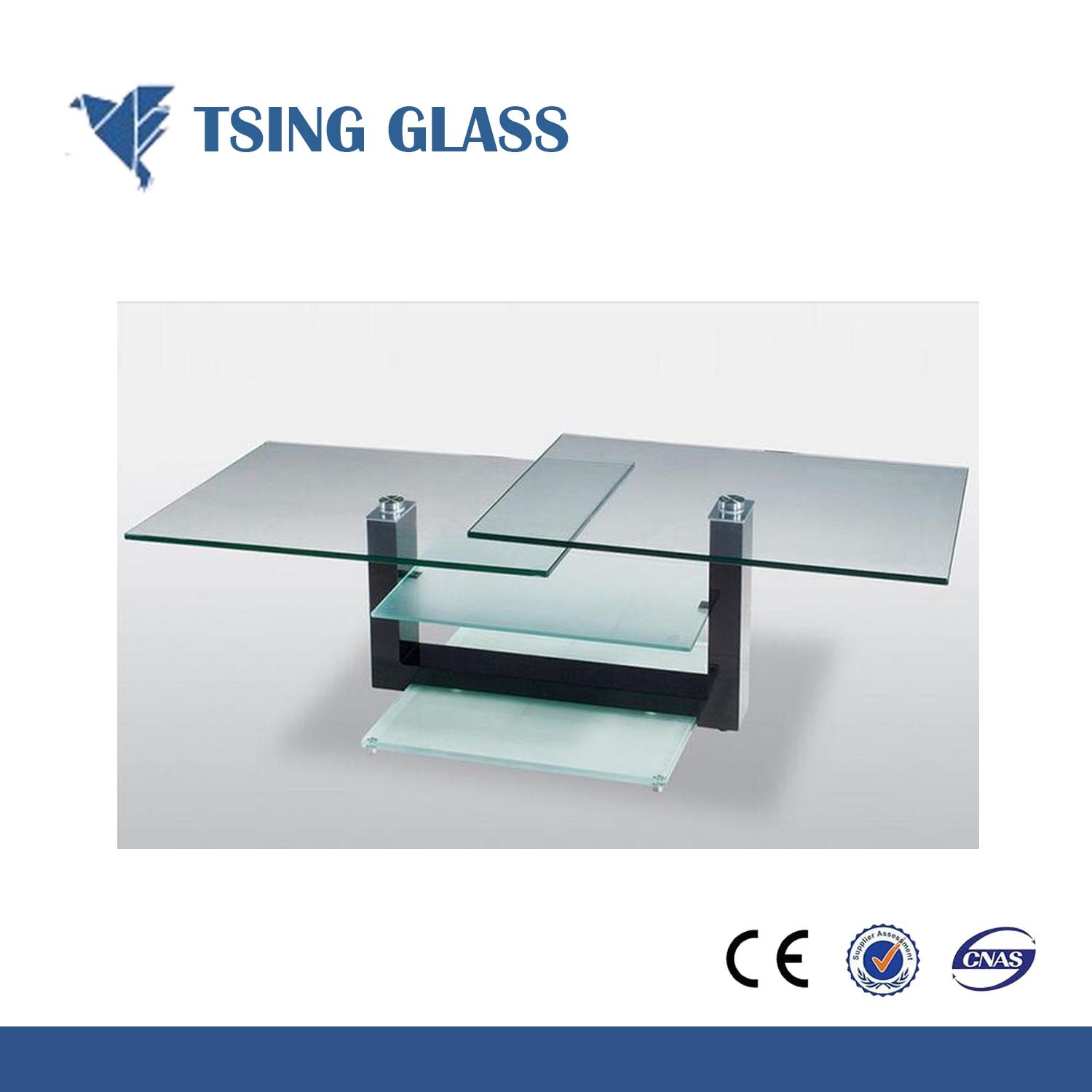 China 4 10mm Clear Toughened Glass Tempered For Table Top Shelf Furniture
