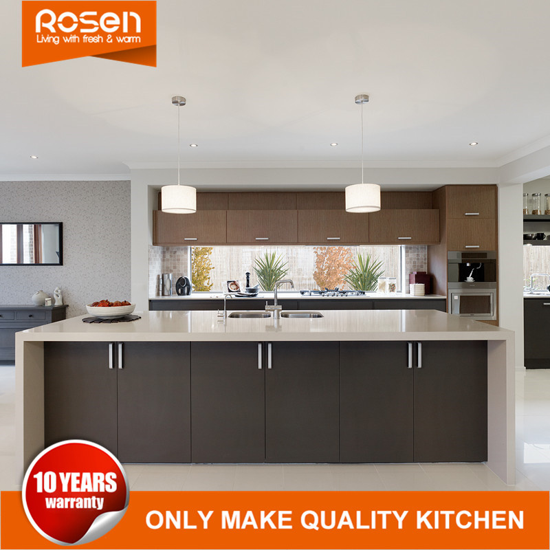 China Brown Modern Simple Style Pvc Finished Kitchen Cabinetry Furniture China Kitchen Cabinets White Kitchen Products