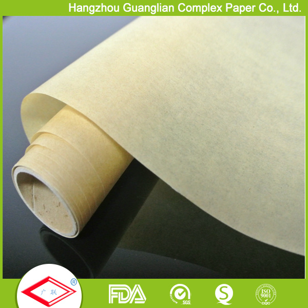 30cmx5m Greaseproof Unbleached Silicone Baking Paper Roll for Oven Use pictures & photos