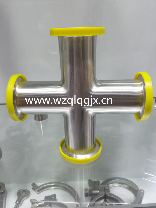3A 304/316L Sanitary Stainless Steel Clamped Cross Cross Four Way pictures & photos