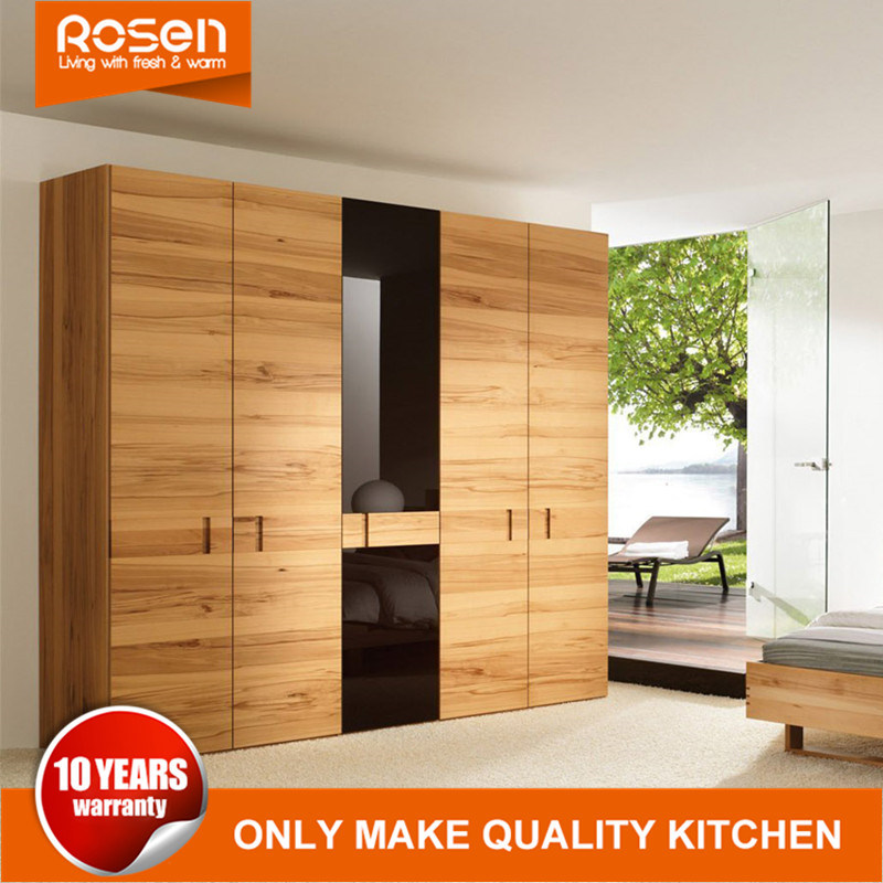 Hot Item Purchase Professional Design Wood Veneer Hinged Swing Door Wardrobes