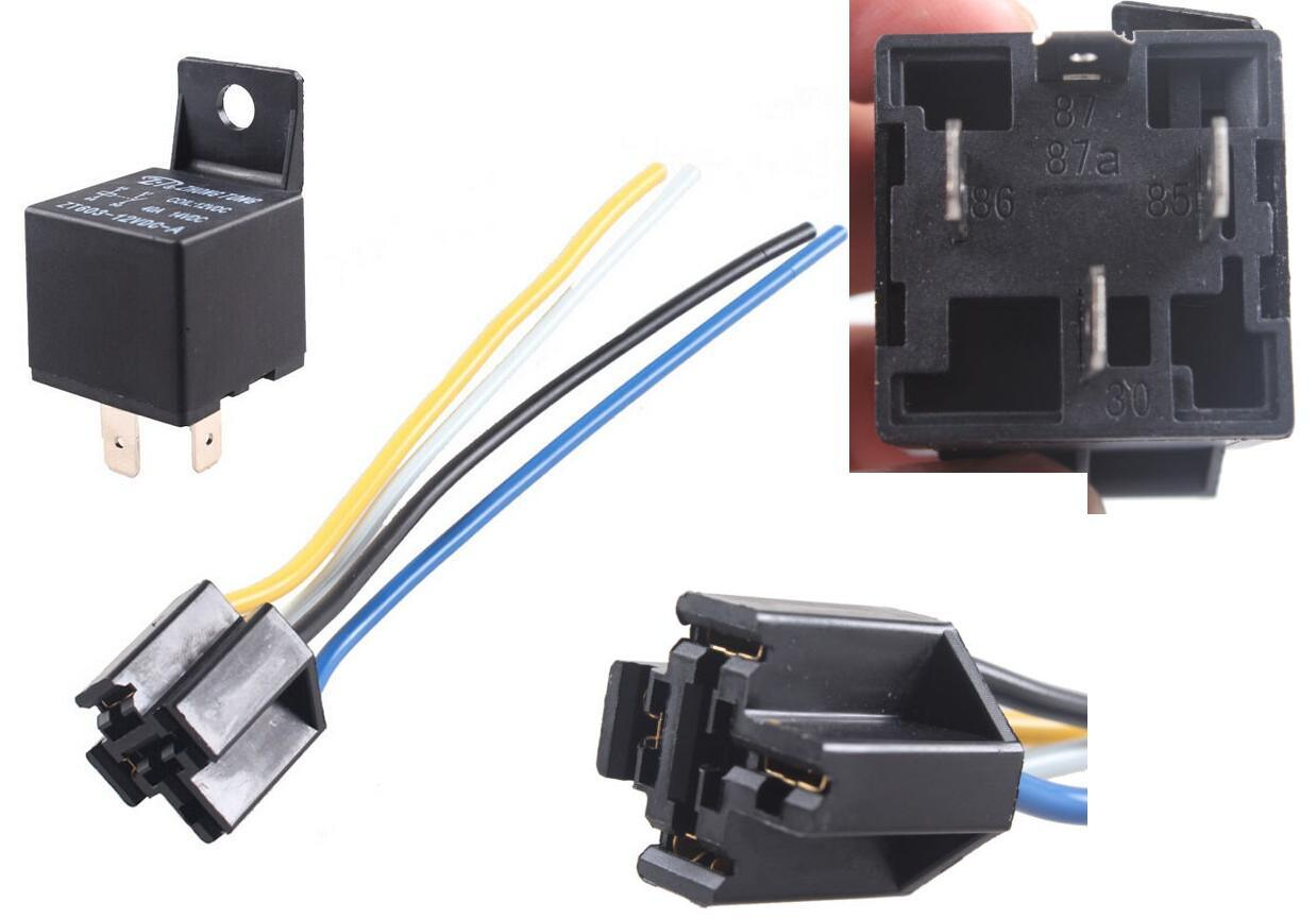 China Auto 12v 40a 40 Car Truck Amp Spst Relay 4 Pin 4p Socket Prong 12 Volt Wire Parts Motorcycle