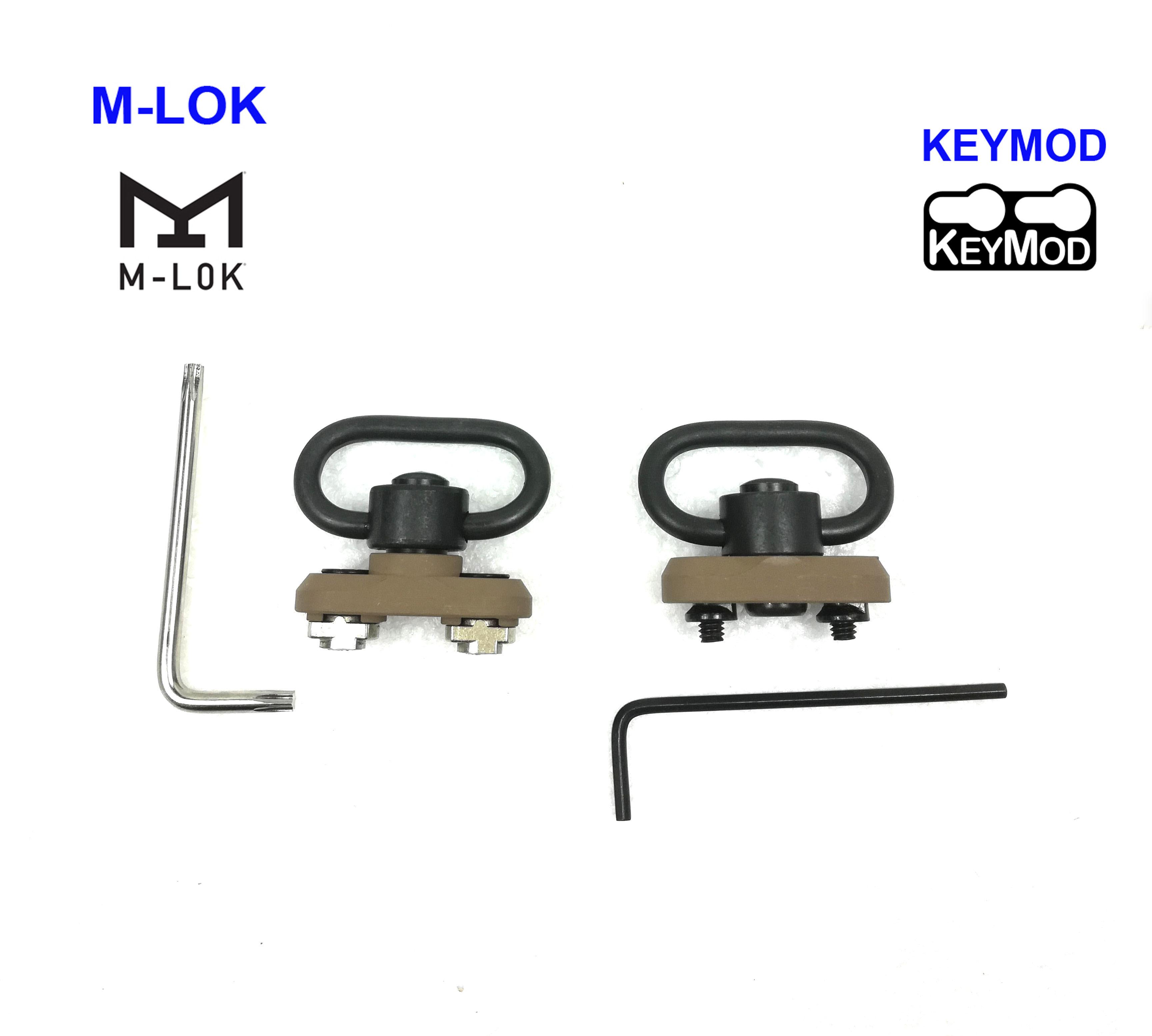 QD Sling Swivel Keymod Adapter Rail Mount Kit Tan color Sling Adapter