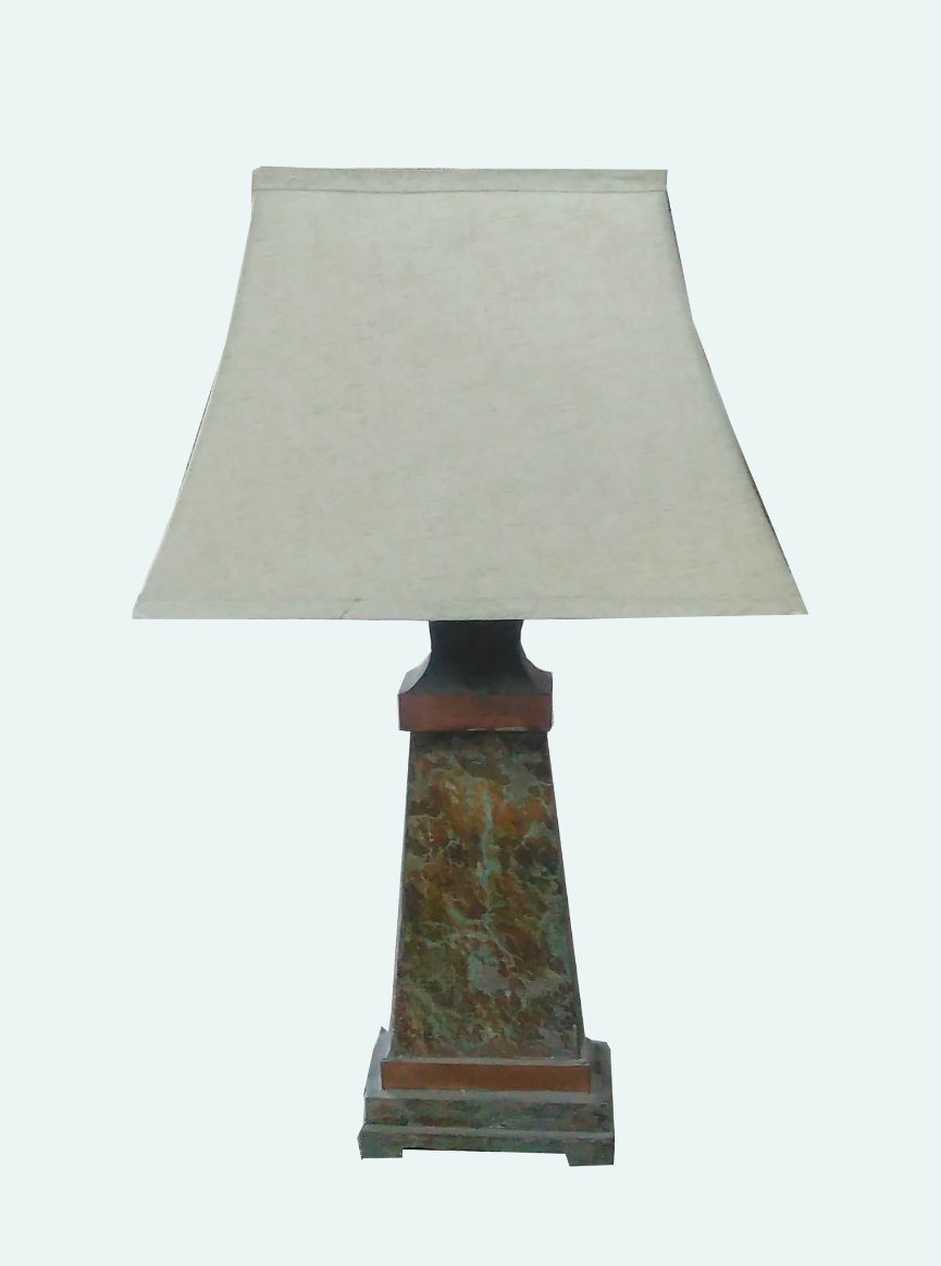 Stone & Metal Table Lamps for Outdoor