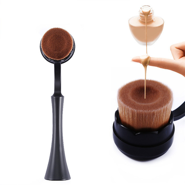 Wholesale Professional 1PCS Round Standing Toothbrush Brush Set Makeup Brushes