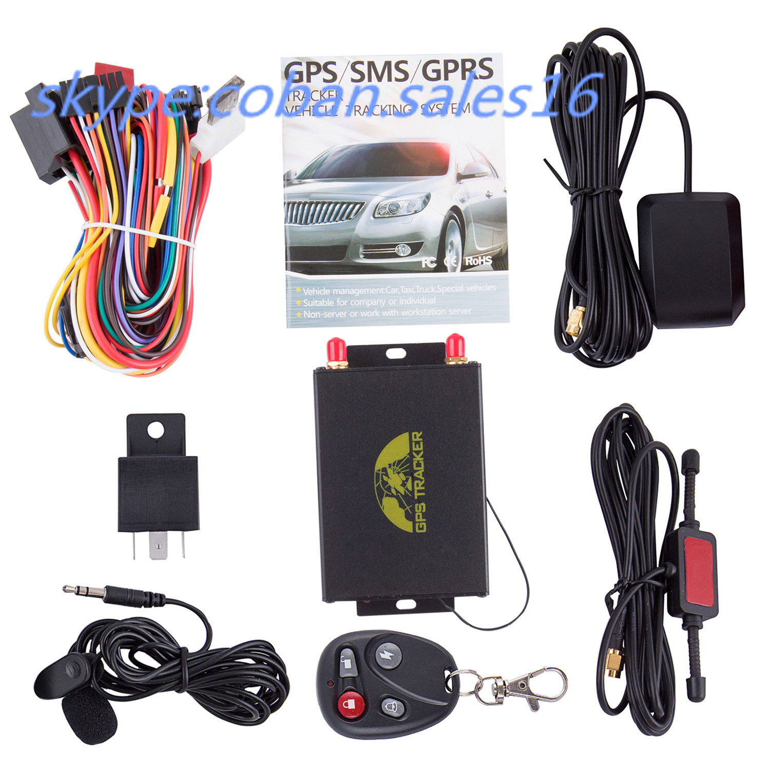 Manual GPS Tracker Tk105 with Camera, Mileage Report GPS Tracking Device