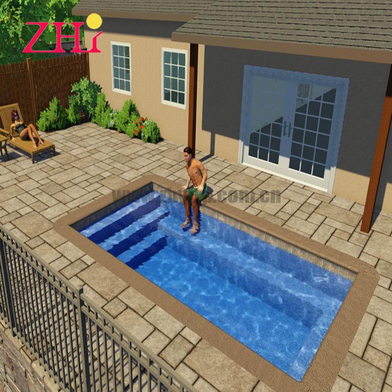 China Frp High Quality Fiberglass Water Swimming Pool For Sale L16 X W10 X H4 China Fiberglass Water Pool And High Quality Pool Price