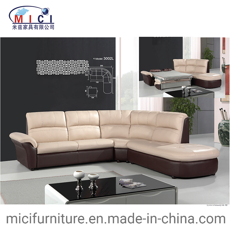 China Modern Living Room Furniture Elegant Leather Corner ...