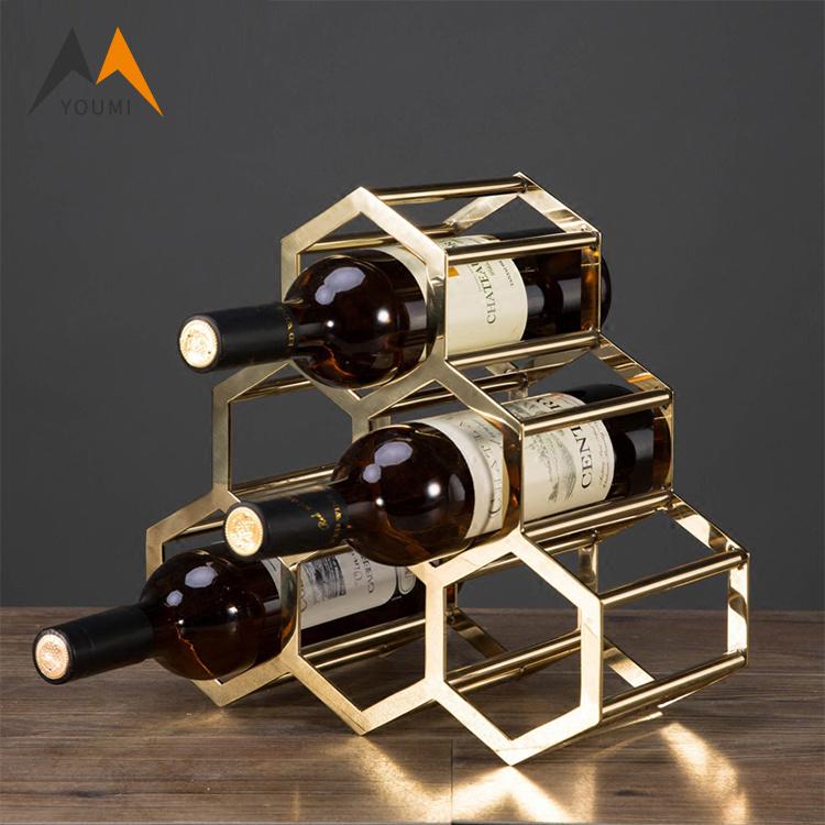 China Wholesale Modern Stainless Steel Wall Mounted Metal Wine Rack China Wine Rack Wine Stand