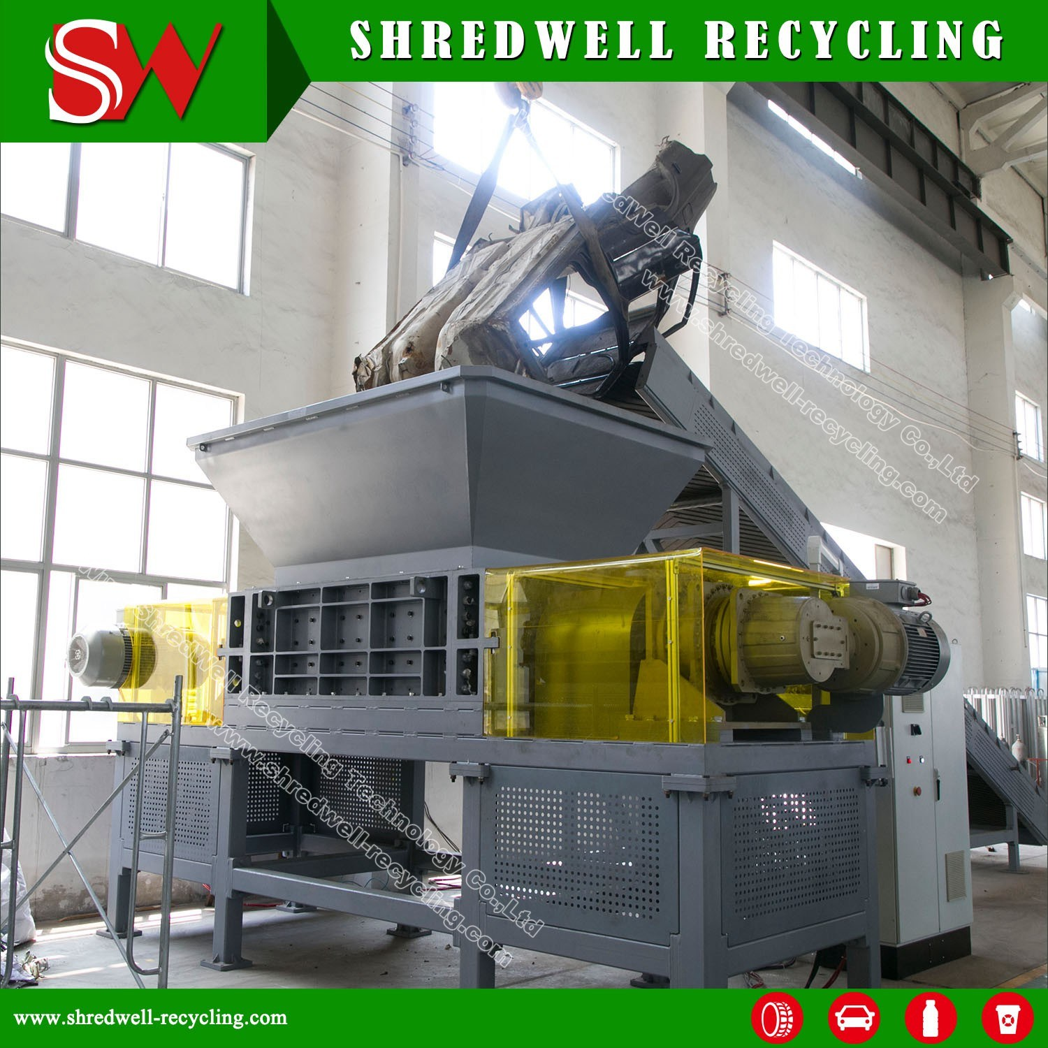 China Heavy Duty Scrap Car Recycling Machine For Shredding Used Circuit Board Manufacturer Of Copper Wire Metal