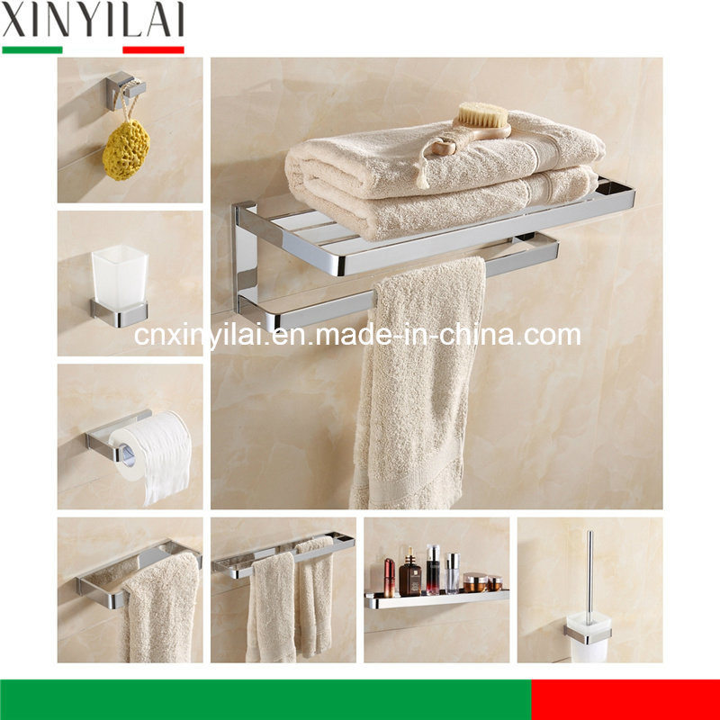China German Design Brass Chromed Bathroom Accessories with 6 PCS ...