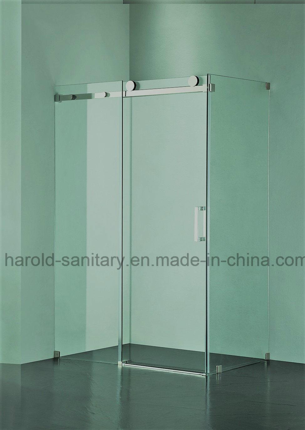 Hot Item Frameless Roller Sliding Glass Shower Door