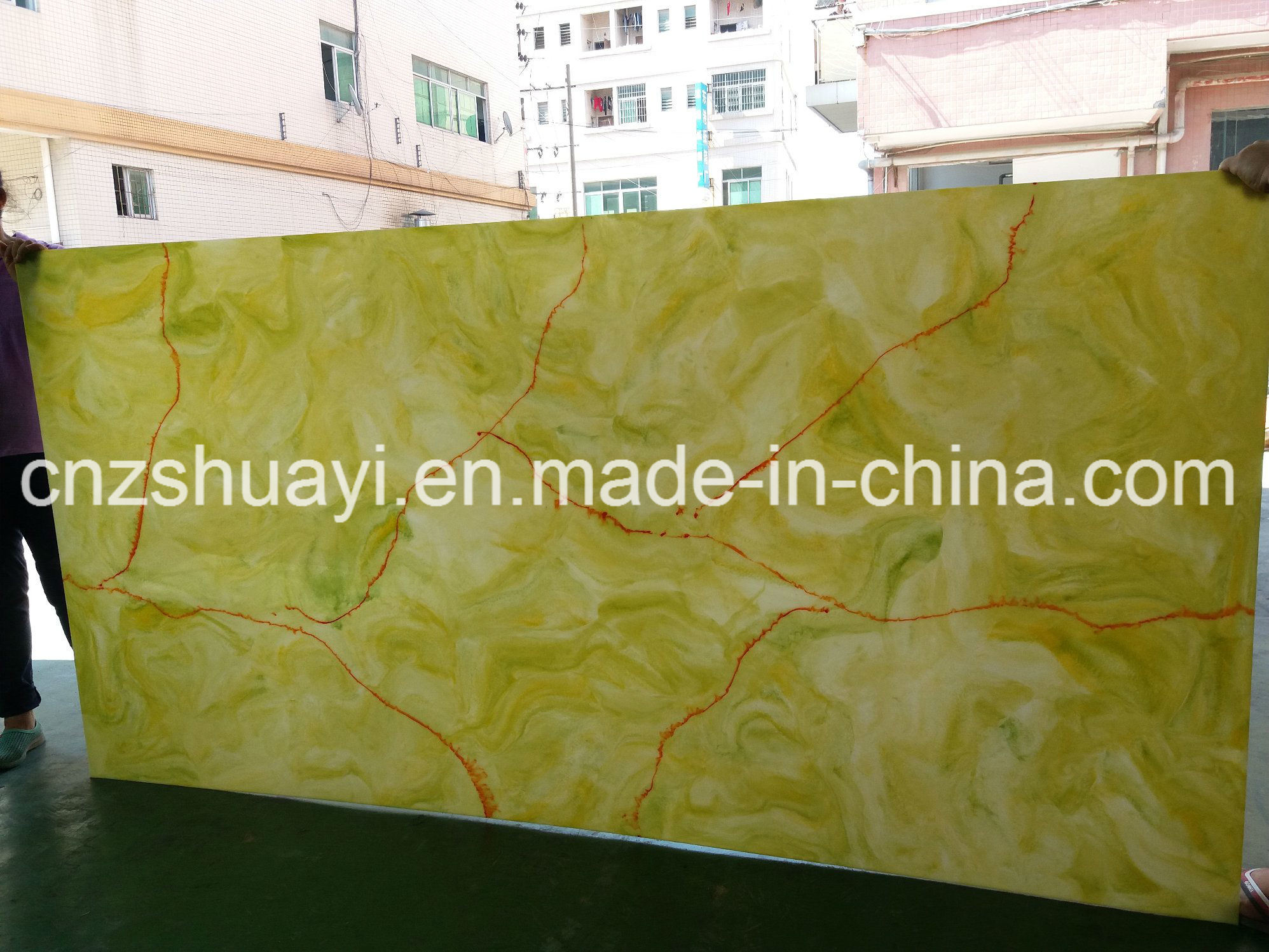 China Artificial Stone Slabs for Decorative Kitchen Wall Panels ...