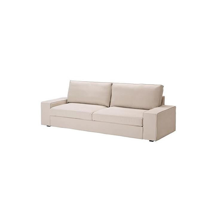 Pu Leather Black Color Two Seat Sofa