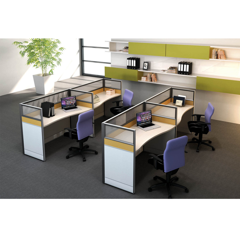 China 4 Person Cubicle Small Size Office Partition China 4 Person Cubicle Office Table
