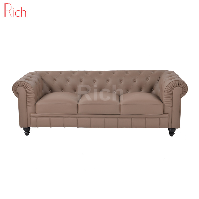 [Hot Item] High Quality Vintage Leather Classic Chesterfield Sofa for  Living Room