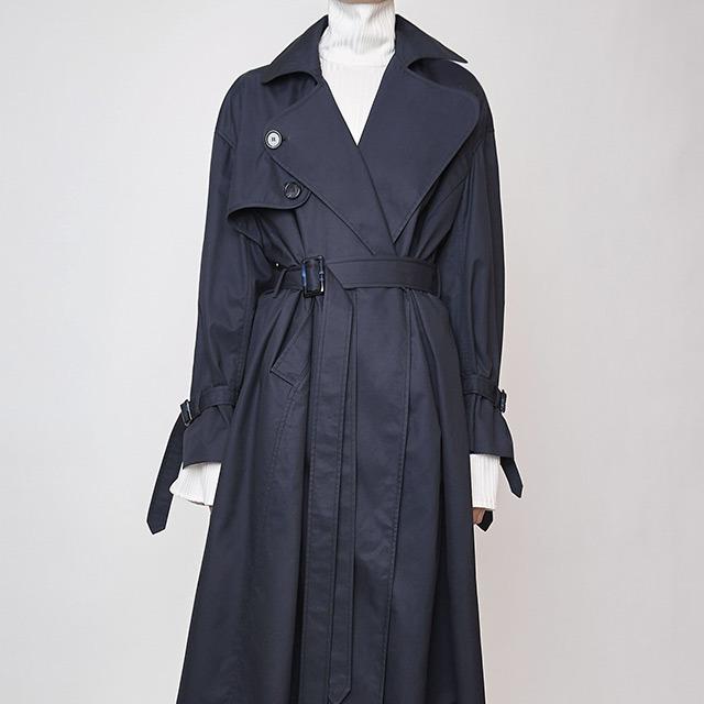 China Women Winter Classic Oversized, Navy Trench Coat Ladies