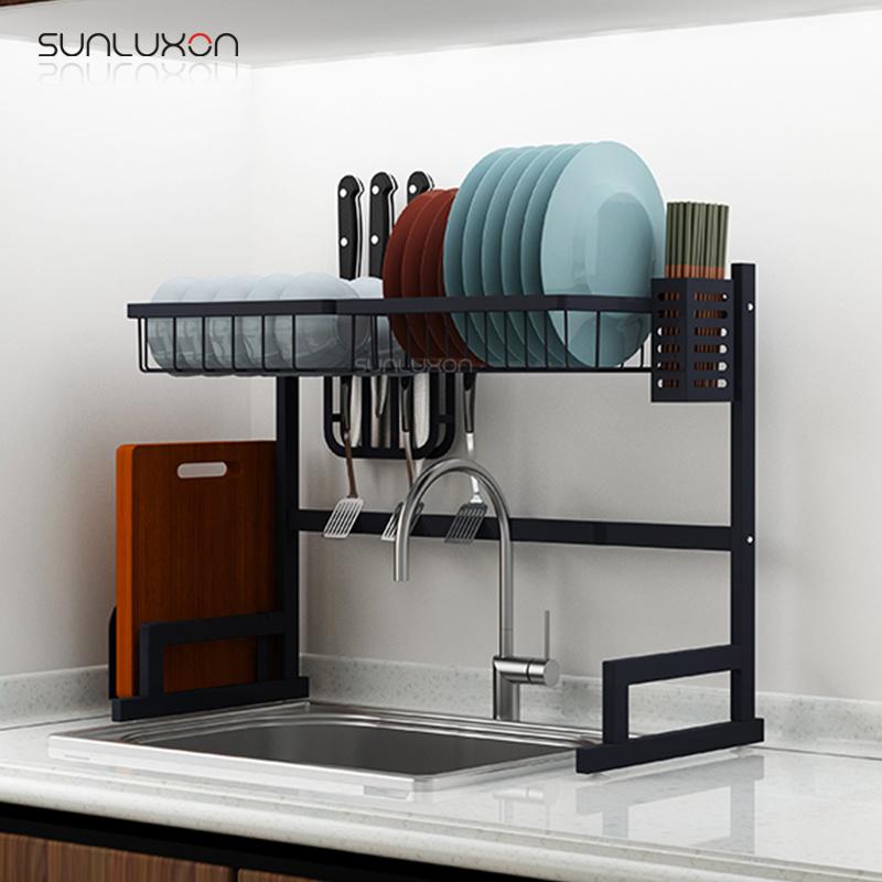 Dish Drying Hanger Stand Black Storage