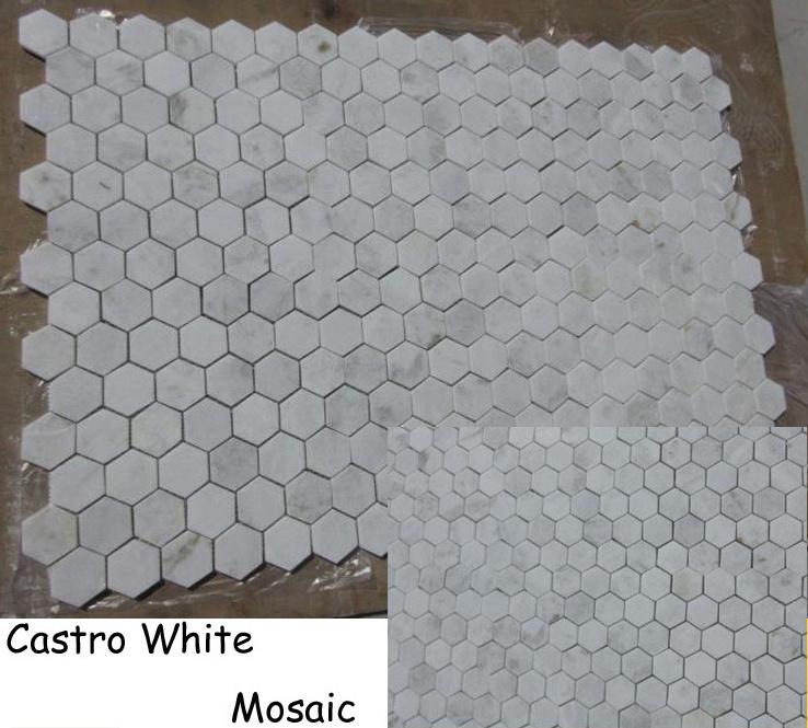 China Castro White Grey Black Marble