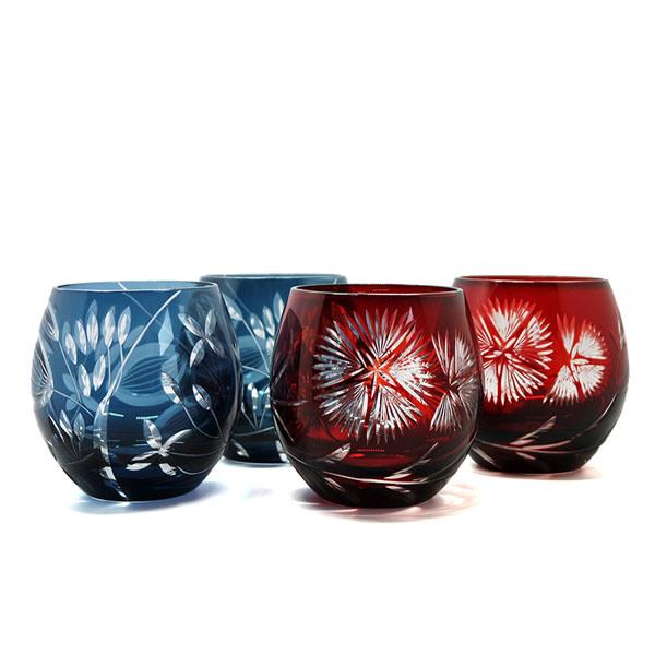 China Hand Cut To Clear Ruby Red Crystal Drinkware Japanese Satsuma Kiriko Whiskey Tumbler Glass Edo Kiriko Glass Cup China Hand Cut To Clear Glasss And Ruby Red Crystal Price