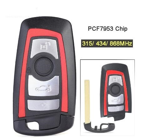 Bmw Key Fob Replacement >> Hot Item 315 434 868mhz Pcf7953 Chip Cas4 Fem Replacement 3 1 4 Button Remote Key Fob For Bmw 1 2 3 4 5 6 7 Series X3 M2 Blue