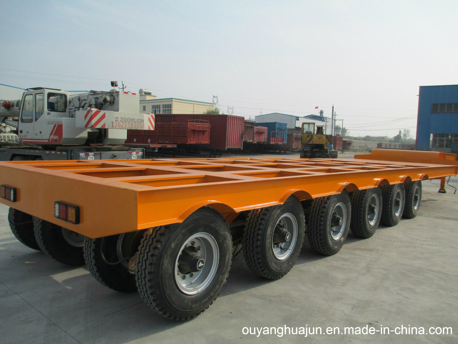 2 Axles Super Low Bed Vehicle Semitrailer