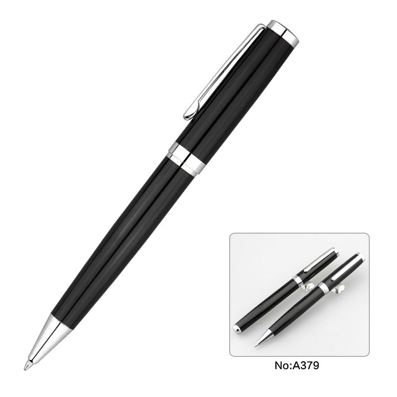 Black Color Fashion Metal Ball Pen Roller Pen Set for Business pictures & photos
