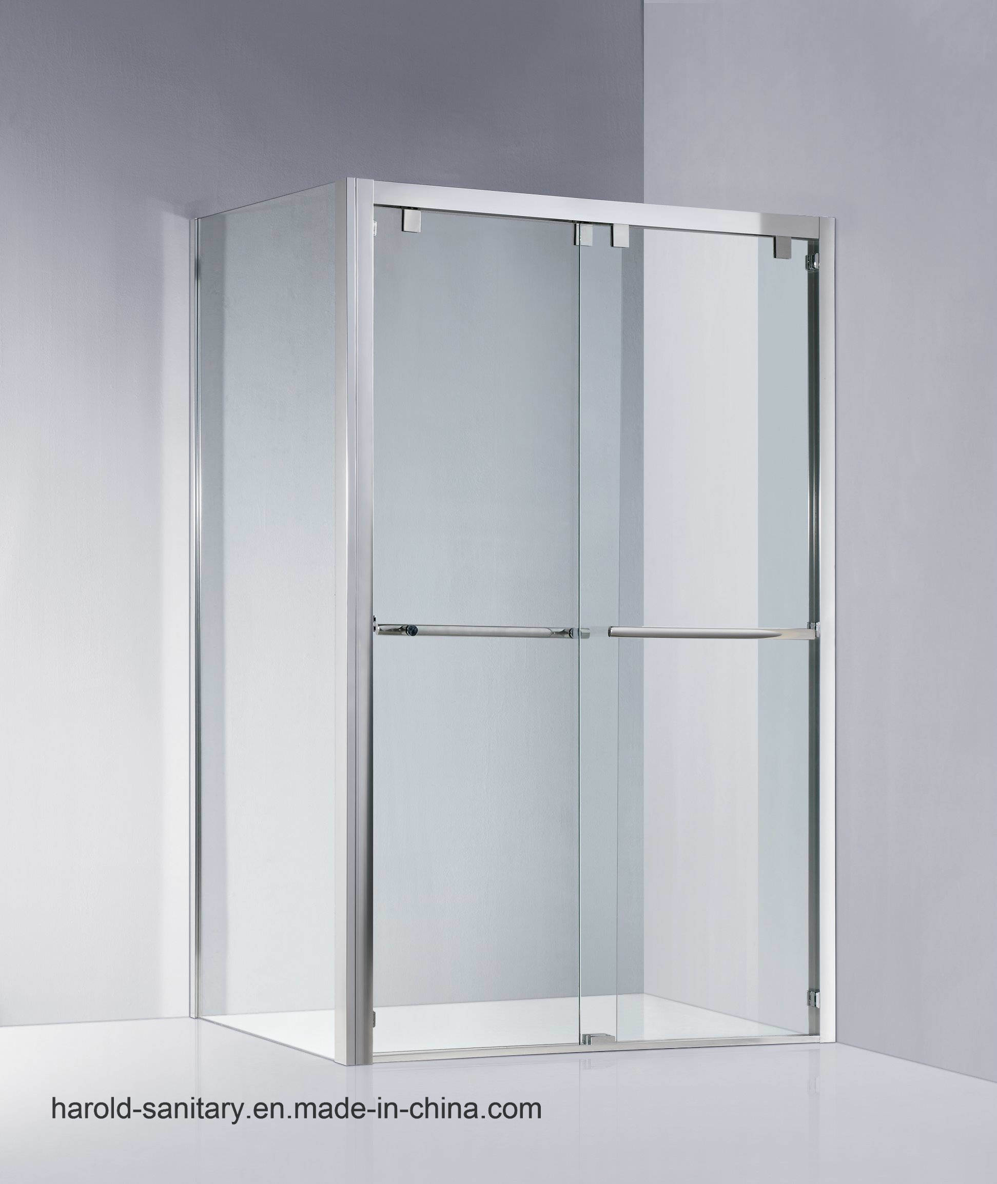 China Bypass Shower Screen Bathtub Screen Double Sliding Door System