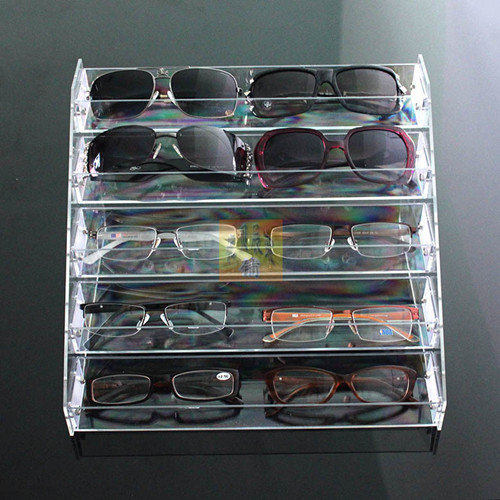 Acrylic Eyewear Display Stands Plastic Eyeglasses Rack Sunglass Display