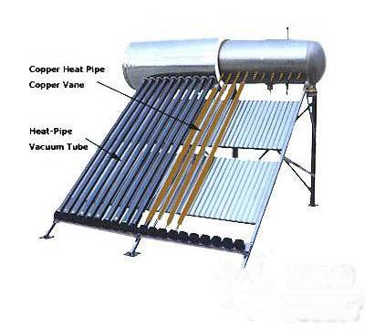 Heat Pipe Pressurized Solar Hot Water Heater System (ChaoBa) pictures & photos