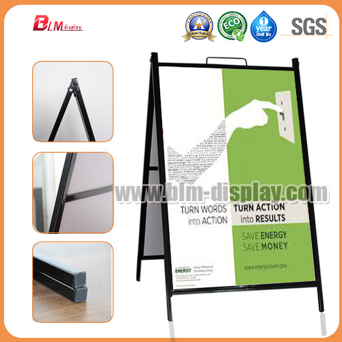 China Black Metal a Frame Sidewalk Signs with Stand - China Poster ...
