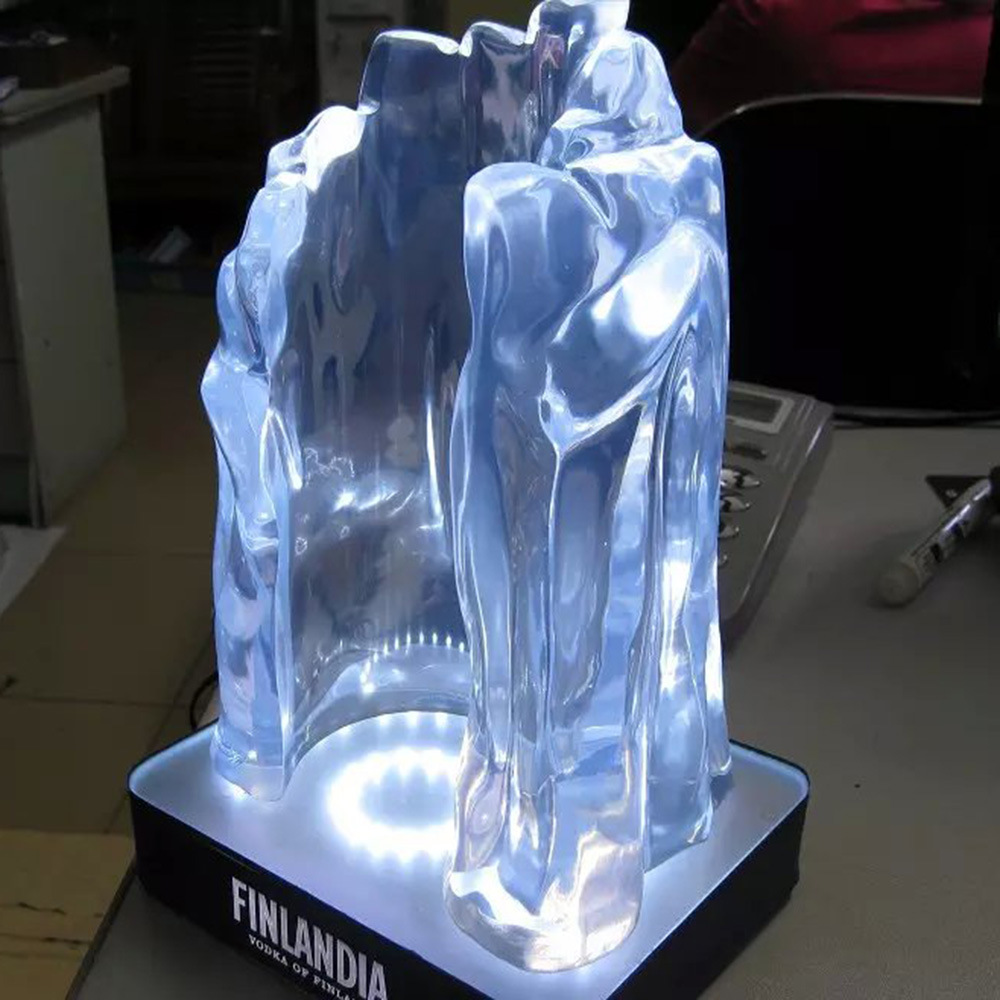 High Glossy Transparency Crystal Polyester Resin Display
