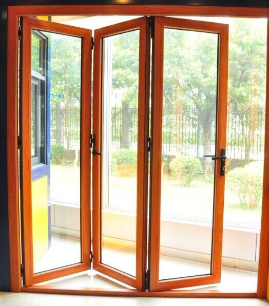 China Supplier Aluminum Glass Folding Door with Siegenia Hardware ...