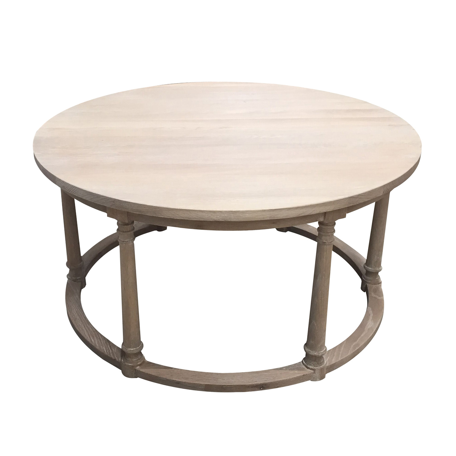 - China Round Washed Oak Top Wooden Coffee Table - China Round Wooden Coffee  Table, Round Oak Coffee Table