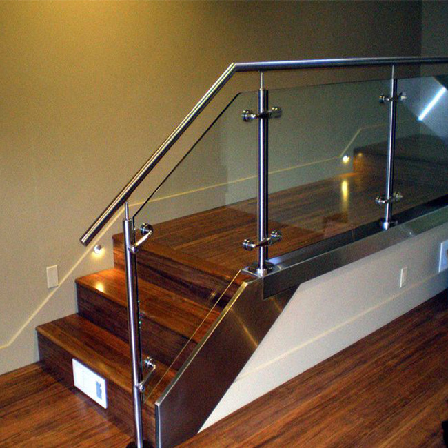 China Stainless Steel Stair Railing Post Glass Railing Design China Green Glass Frosted Glass