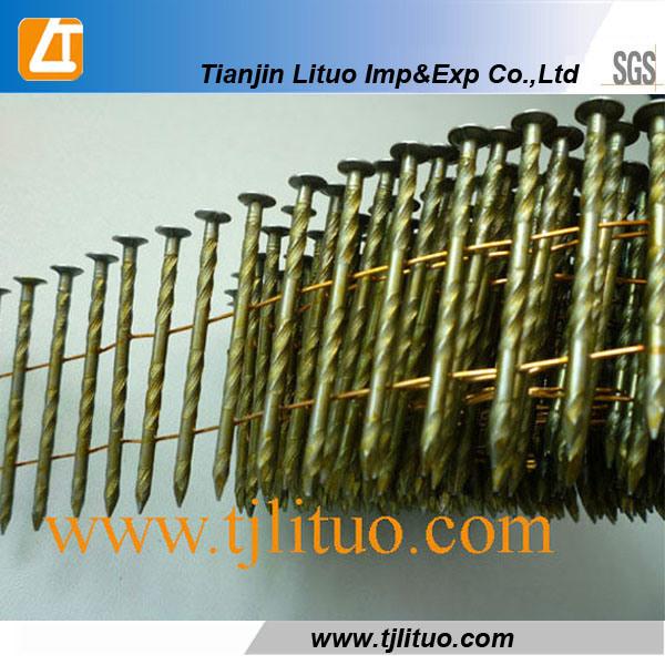 China Painted Twisted Shank Pallet Coil Nail Nails for Nail Gun ...
