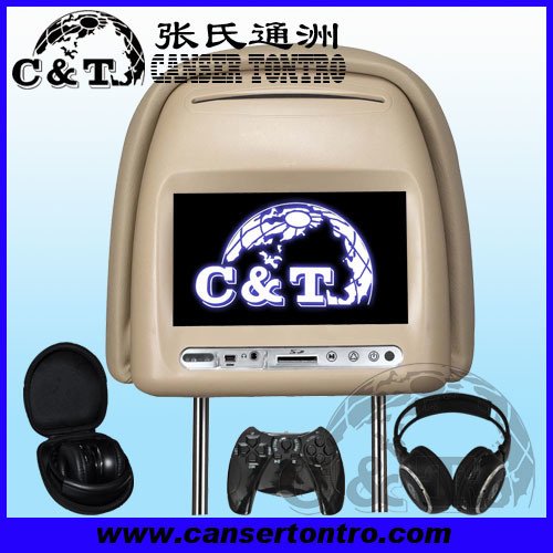 China 7 Car Dvd Headrest Player Touch With Tft Lcd Monitor Screen Usb Sd Fm Ir Wireless Headphone 32 Bit Game H702dv China Car Dvd Car Dvd Monitor