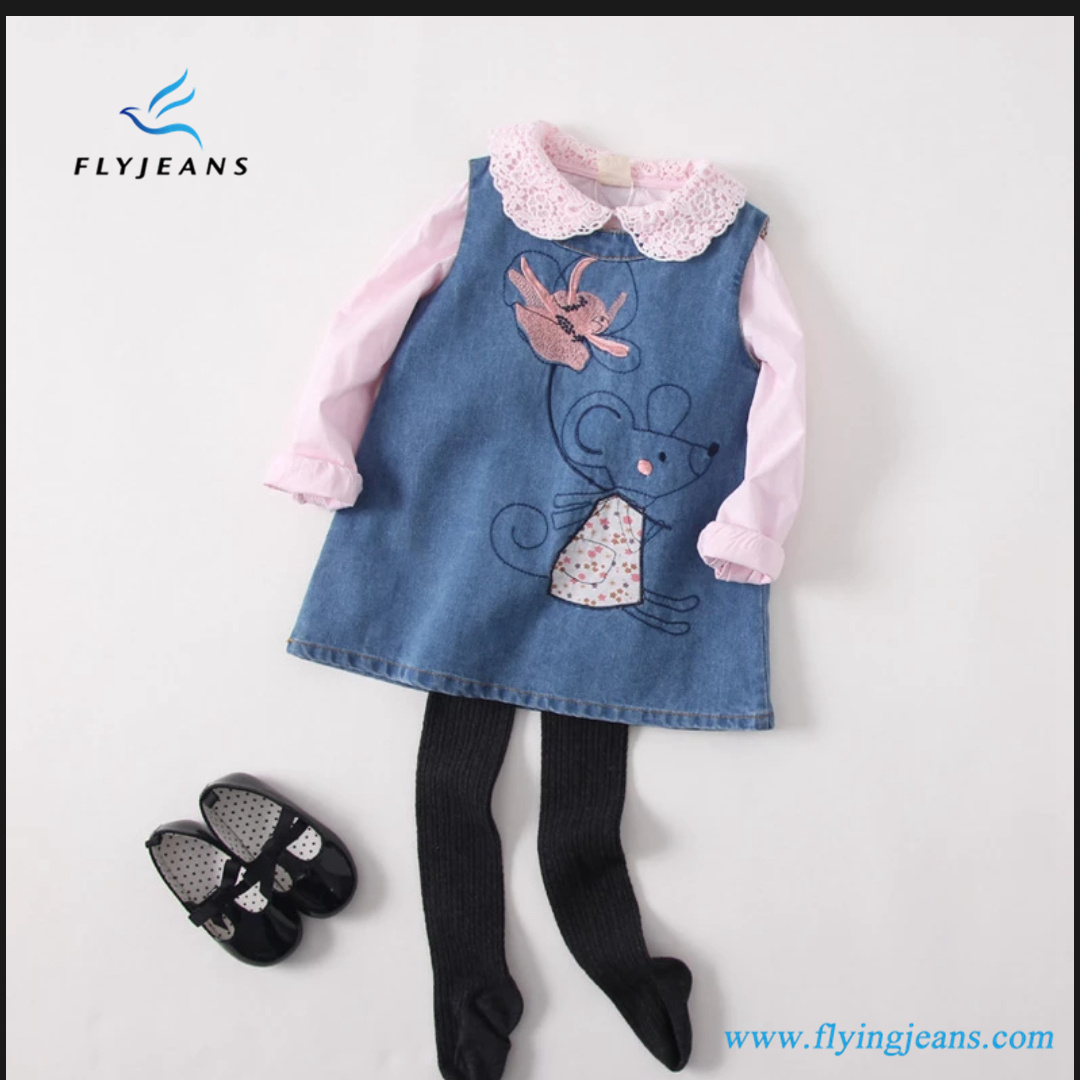 eb89b04c271 China Populaer Girls′ Sleeveless Denim Dresses with Cute Embroidery by Fly  Jeans - China Girls Denim Overall