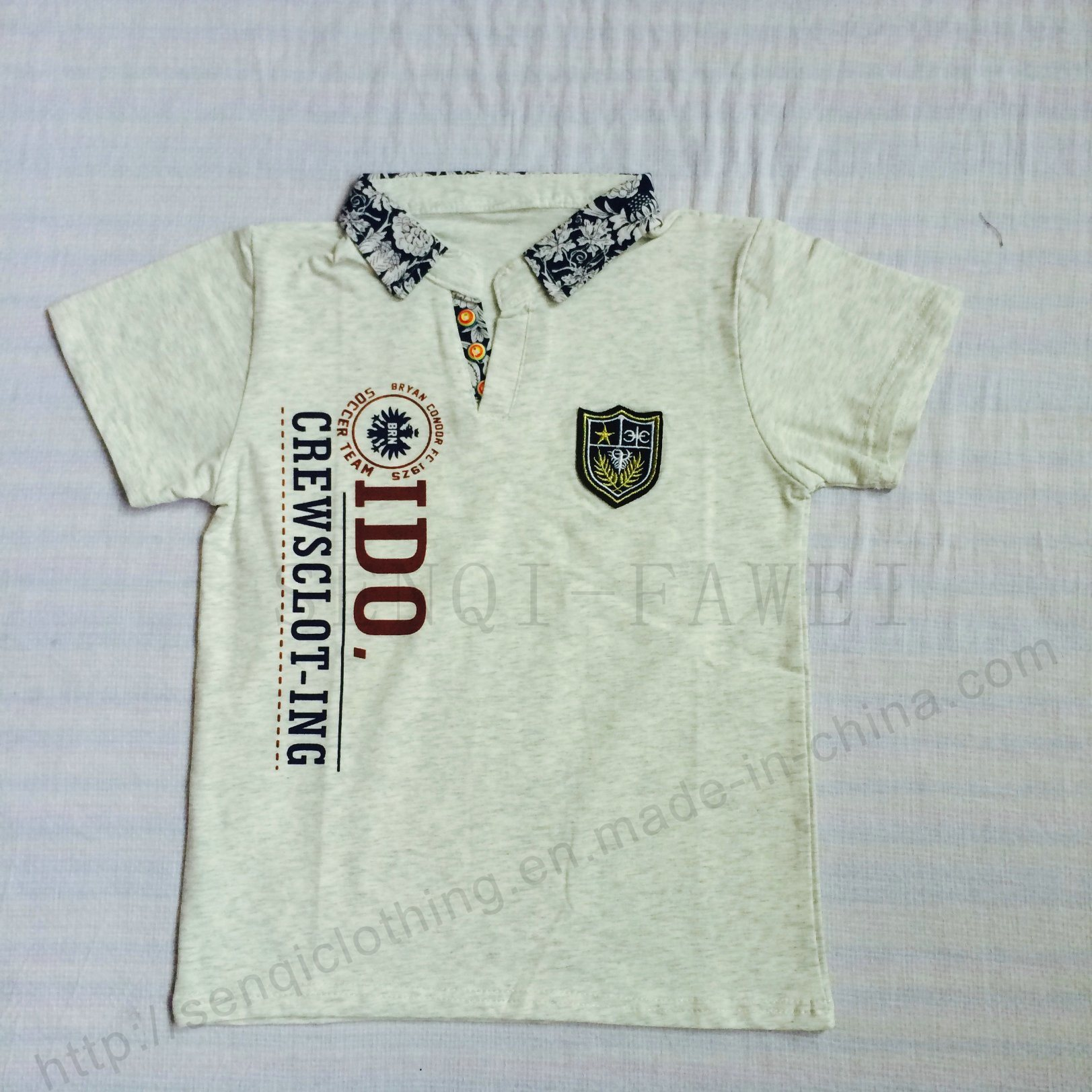 b1325206 China Boy Stand Collar Polo Shirt in Kids Clothes - China Shirt, Boy Shirt