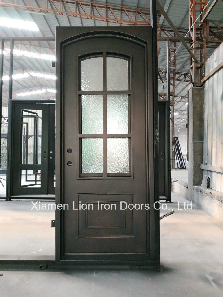 China Front Grill Design Interior Custom Wrought Iron Door With