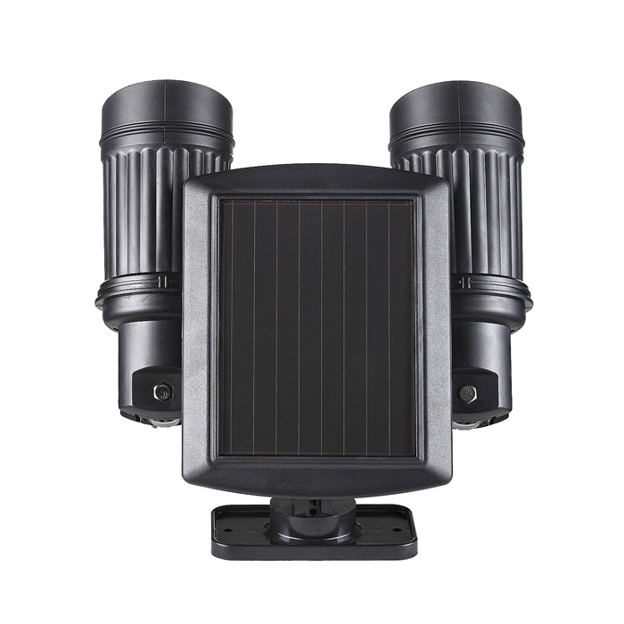 Outdoor 7*2 LED Solar Power Dual Head PIR Motion Sensor Garden Wall Spot Light Security Lamp Rotatable Waterproof Spotlight pictures & photos