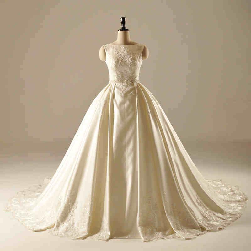 China Saitn Sequin Ball Gown Bridal Wedding Dress - China Wedding ...